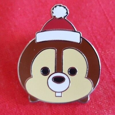 Disney Pin Mystery Collection Tsum Tsum Christmas - Chip ONLY Santa Hat
