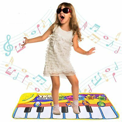 Musical Music Kid Piano Toddler Play Baby Animal Multi Function Step On Soft Mat