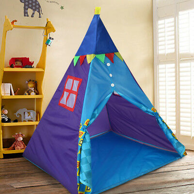 Portable TeePee Tent Kids Outdoor Indoor Game Play Children Toy Tent Playhouse