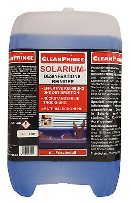 Solarium - Cleaner 2,5 Litre Disinfection Cleaning Solution Hygiene Solariums