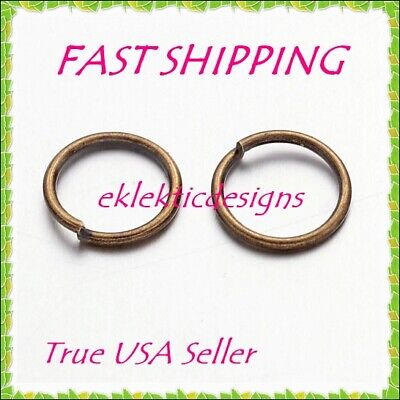 4mm 200pcs Antique Brass Bronze Jump Rings Jewelry Findings Open Split Earrings