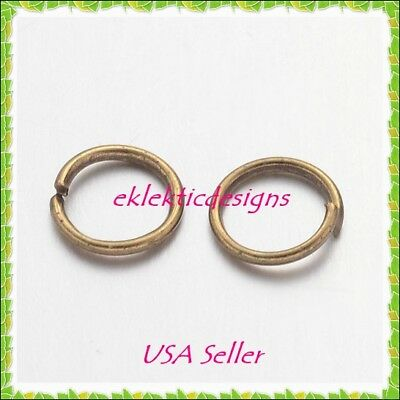 6mm 100pcs Antique Brass Bronze Jump Rings Jewelry Findings Open Split Earrings