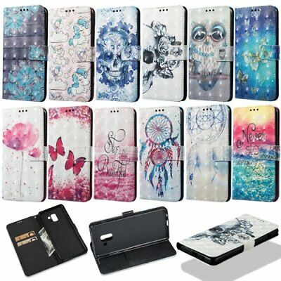 For Samsung Galaxy A8/A8 Plus (2018) PU leather wallet phone case OWL pattern