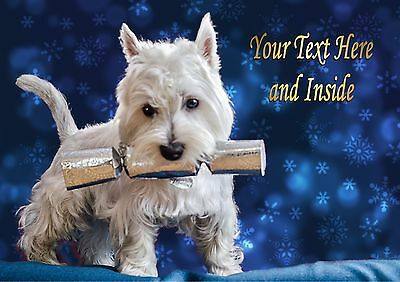 BICHON FRISE /& SANTA CHRISTMAS CARD Personalised /& Illustrated inside too  A5