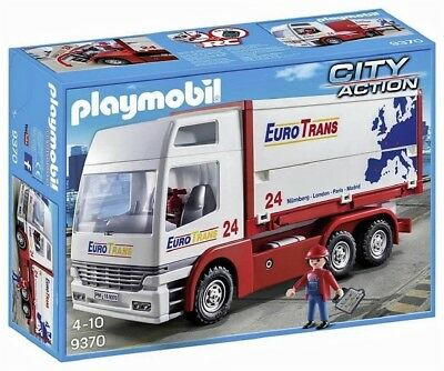 "Playmobil 9370 LKW ""EURO TRANS 24"" + Container RC-fähig Neu & Ovp City Action"