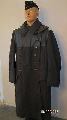 West German WW2 WWII  STYLE Eastern Front Over Coat Wool Lined Medium Large