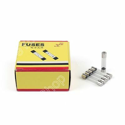 100Pcs 6 x 30mm 250V Glass Fuse Quick Blow Acting Tube Fast-Blow Fuse 4A US