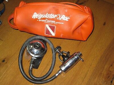 Vintage US Divers Aqua Lung Calypso IV Single Hose Regulator with J valve