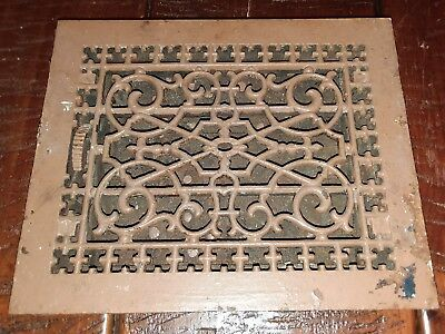 1 Vintage Register Metal Wall Floor Heat Vent Grate Register Louver (unit 10)
