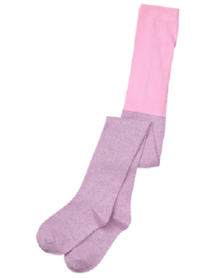 Gymboree Girl's Light Purple Sparkle Tights Girl Size XS 4 NEW