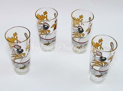 4-1976 Warner Brothers Foghorn Leghorn Henry Hawk Tennis Pepsi ~ Cola Glass