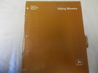 Riding Mowers Product Information Manual
