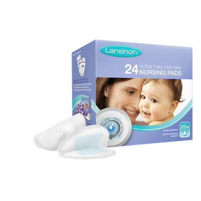 Lansinoh Nursing Pads 24 Pack Ultra Thin Stay Dry Super Absorbent