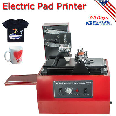 Electric Pad Printer Printing Machine T-Shirt Bottle Cup Inkprint  Date Bar Code