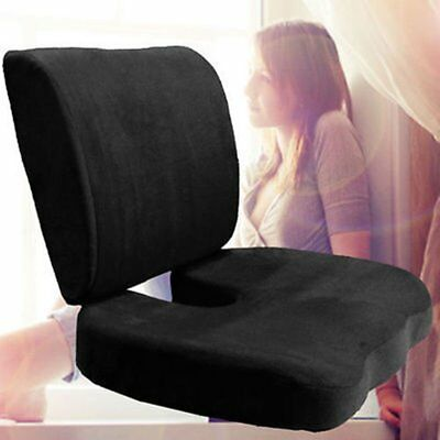 Memory Foam Coccyx Orthoped Seat Cushion Back Support Lumbar Pain Relief Pillow~