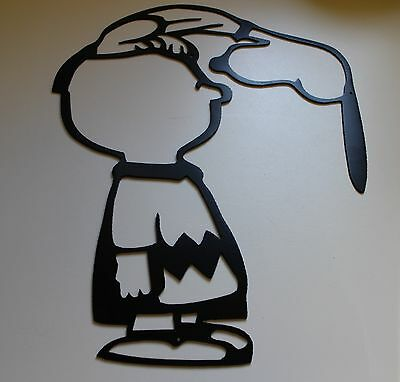 METAL WALL ART CHARLIE & SNOOPY BY HGMW  Silly ol Dog!