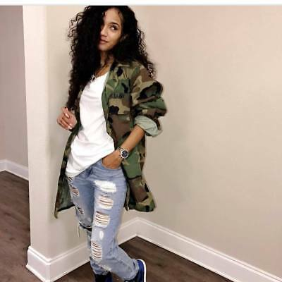 Sexy Women long sleeves Camouflage casual club party shirt blouse mini dress