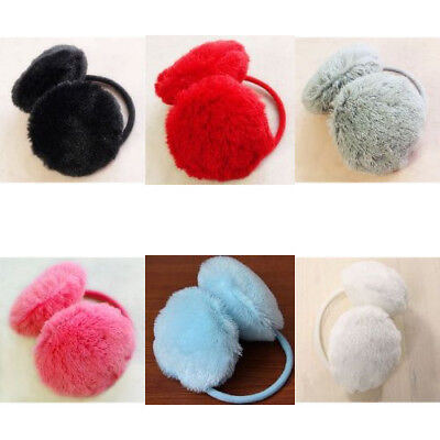 Cute Thick Plush Fluffy Behind the Head Design Muffs Ear Warmers For Women