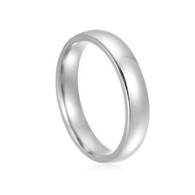 4 mm Wide 316L Stainless Steel Men / Women Wedding Band Ring Sz 6-10