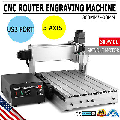 Usb Cnc Router Engraver Engraving Cutter 3 Axis 3040T Carving 300X400Mm Artwork