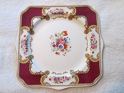 Myotts Royal Crown Bouquet Square Plate Staffordshire England
