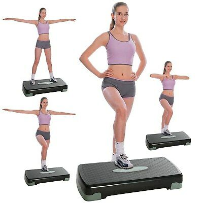 PVC Aerobic Step Trainer Adjustable Exercise Fitness Workout Non Slip Stepper