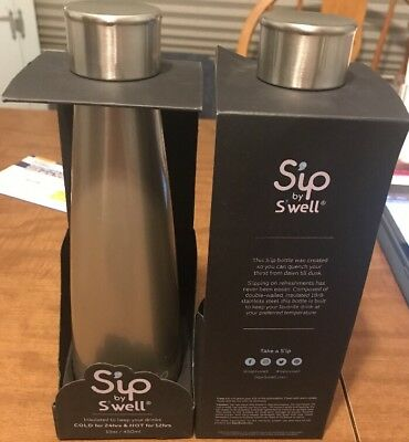 S'IP by S'WELL Water Bottle Stainless Insulated Hot Cold Drink Cup Steel 15 oz