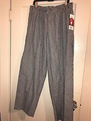 NWT Men's 2XL Chef Works Pants Checkered