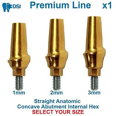 DSI Dental Implant Straight Anatomic Abutment Concave Emergence Profile