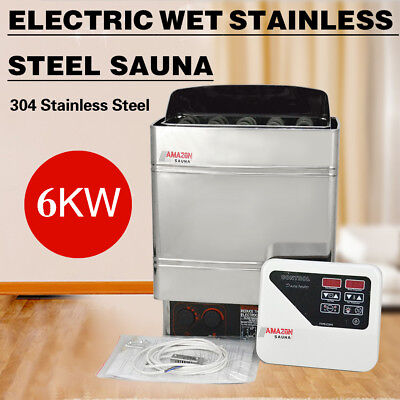 6KW 220V Electric Wet & Dry Sauna Heater Stove External Control Stainless Steel