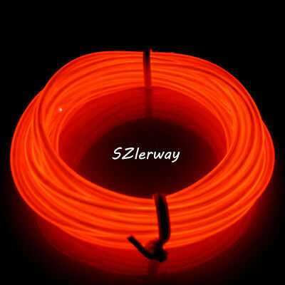 16FT RED LED EL Wire 12v Tube Neon Glow Rope Garden Party ... Wiring V Led Lights on