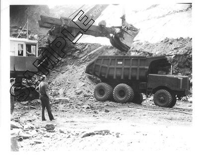 1951 STERLING SF7506D Under BUCYRUS-ERIE Shovel in PA Mine  8x10 B&W Photo #5