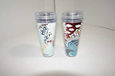 2 ROYAL CARIBBEAN CRUISE LINE COLD DRINK PLASTIC CUPS, COCA COLA COKE,pre-owned