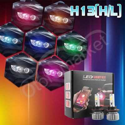 H13 9008 RGB LED Headlight for Ford E150 E250 E350 E450 Super Duty Escape 6000K