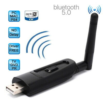 Bluetooth 4.0 Audio Transmitter USB A2DP Stereo Dongle Adapter for TV PC DVD AU