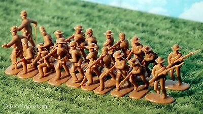 CLOSEOUT! Armies in Plastic Civil War Confederate Butternut Infantry 1/32 54mm