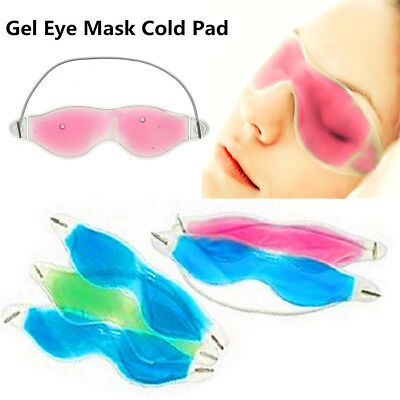 Masque Gel Relaxant Yeux Soins Apaisant Chaud / Froid Glacé Anti-Fatigue Cerne