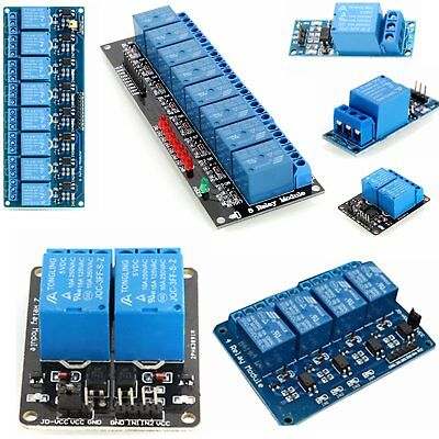 5V 1/2/4//8 Channel Relay Board Module Optocoupler LED For Arduino PiC ARM AVR