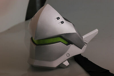 overwatch Genji helmet  cosplay OW cyborg Genji  LED mask ow cos props