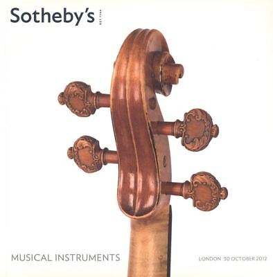 Sotheby's Catalogue Musical Instruments  30/10/2012