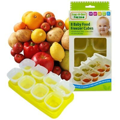 First Step Baby Weaning Food Freezing Cubes Tray Pots Freezer Storage Container