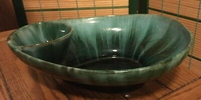 Vintage Blue Mountain Pottery Traditional Green Large Chip and Dip Bowl