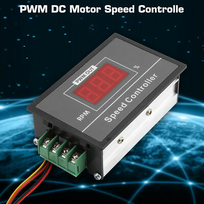 DC 6-60V 12V 24V 36V 48V 30A PWM Adjustable Motor Controller Start Stop Switch