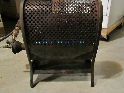 Antique Vintage Lawson Cast Iron and Metal Gas Heater  #1