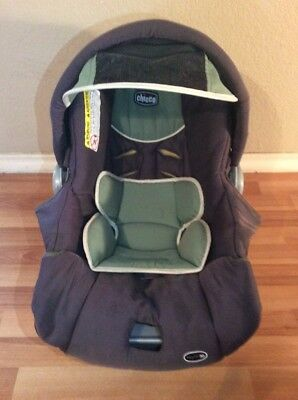 CHICCO Keyfit 30 Infant Car Seat Cushion Cover Canopy Set Part Brown Green White & CHICCO KEYFIT 30 Infant Car Seat Cushion Cover Canopy Set Part ...