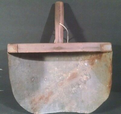 ANTIQUE Primitive Wood & Metal GRAIN SCOOP Tin Vintage RUSTIC Farm Tool