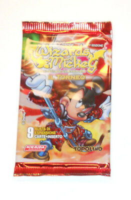 WIZARDS OF MICKEY: 1 BUSTINA - IL TORNEO in ITALIANO - CONTIENE 9 CARTE
