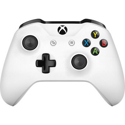 Microsoft Xbox One Wireless Controller with Bluetooth Connectivity in White
