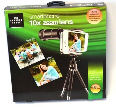 The SHARPER IMAGE 10x Zoom Lens for Smartphones iphone android new in box