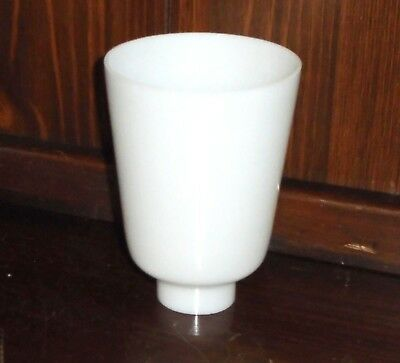 Antique White Milk Glass Bathroom Wall Sconce Glass Cup Replacement Shade